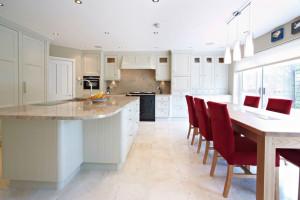 White Classic Kitchen Cabinet Design