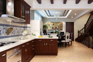 Solid Wood With Granite Countertop Classic Kitchen Design