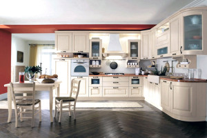 Open Concept L Shape Classic Kitchen Cabinet Design