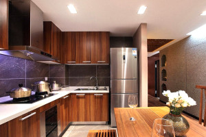 Melamine Classic Kitchen Cabinet Design