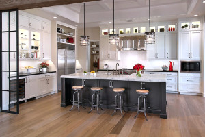 Solid White Island Classic Kitchen Cabinet Design