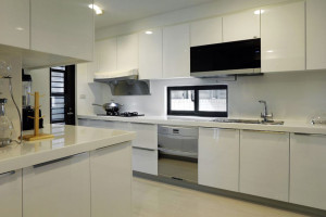 White Contemporary Kitchen Design