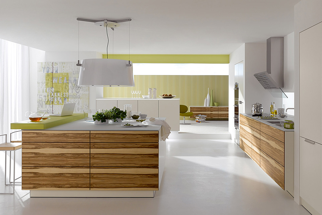 Open Concept Contemporary Island Kitchen