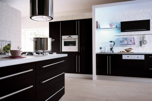 Modern Black Kitchen Design