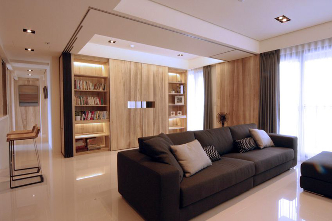 Black modern living room design interior renovation for Modern living room malaysia