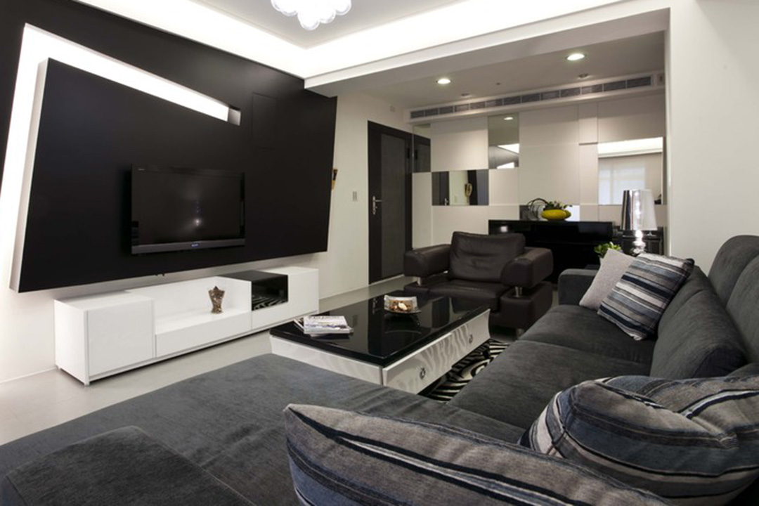 Modern living room design interior renovation malaysia for Modern living room malaysia