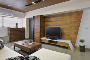 Black Modern Living Room Design 07