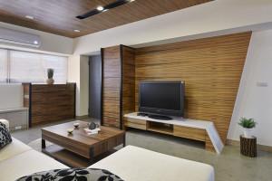 Black Modern Living Room Design 07