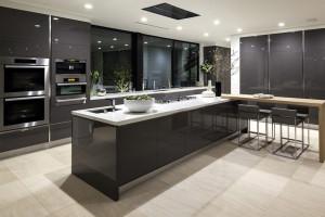 Solid Surface Modern Kitchen Cabinet Design