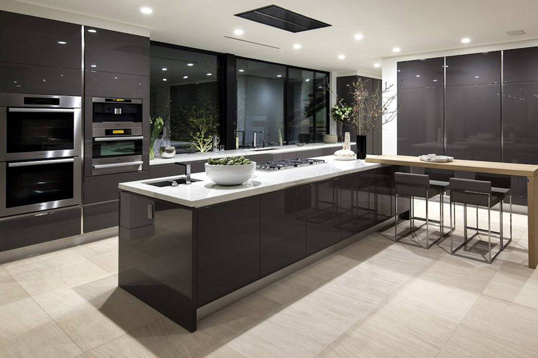 Solid Surface Modern Kitchen Cabinet Design