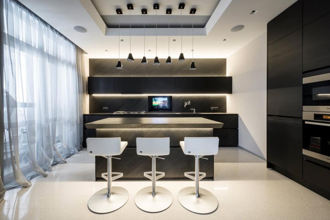 Open Concept Modern Island Kitchen Cabinet Design