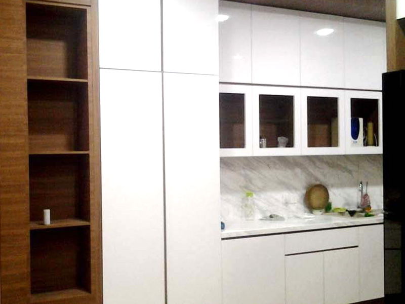 Melamine White Kitchen Cabinet