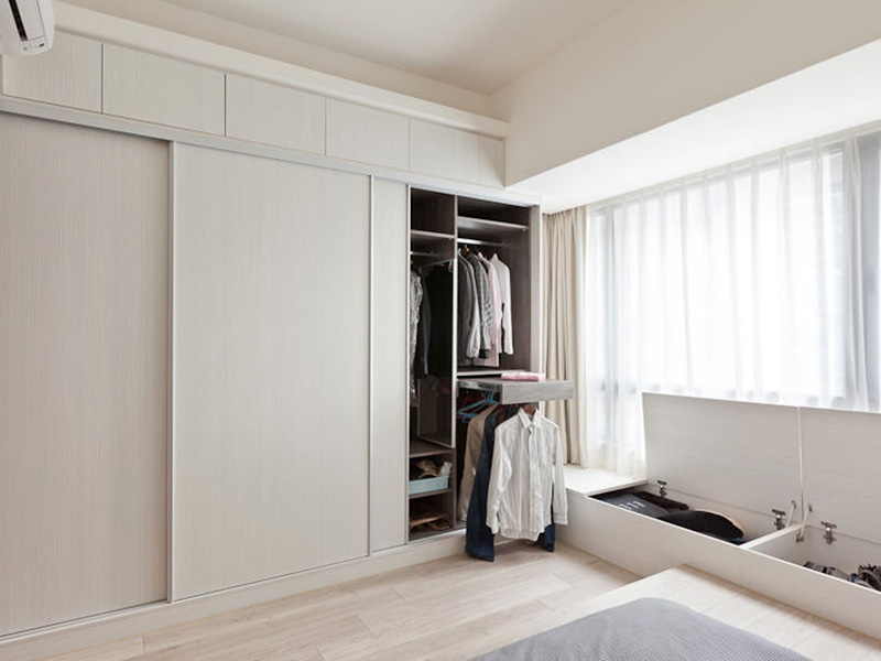 Sliding Doors Bedroom Wardrobe Design Interior