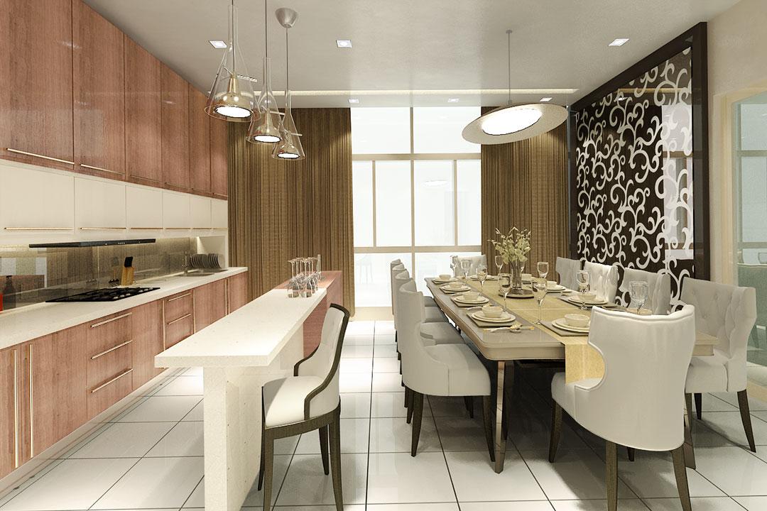 Dining Room Interior Decoration Design & Renovation Services 01