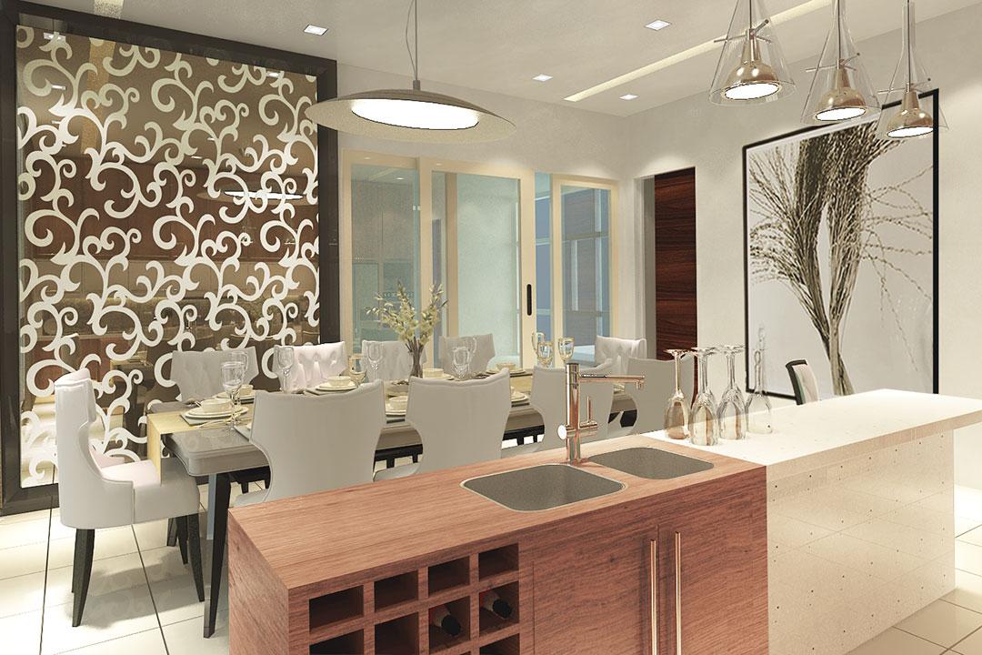 Dining Room Interior Decoration Design & Renovation Services 02